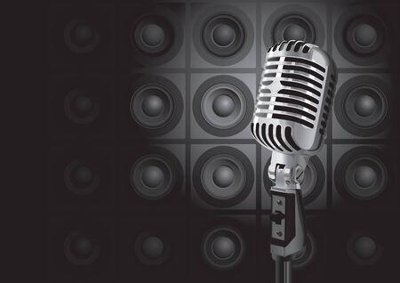 Music Event (editable vector or XXL jpeg image) Illustration