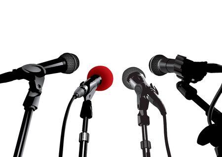 relaciones publicas: Rueda de prensa (vector editable o imagen del JPEG de XXL)