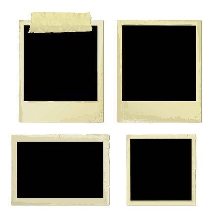 memory card: Old Photo Frames (vector or XXL jpeg image) Illustration
