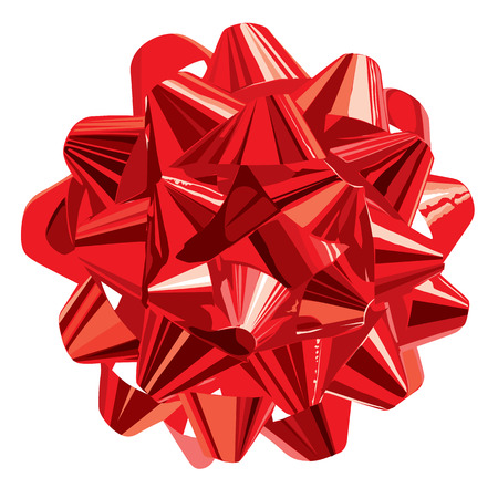 gift wrapping: Red Gift Bow (vector or XXL jpeg image)