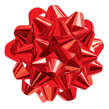 Rotes Gift Bow (Vektor-oder XXL-JPEG-Bild) Vektorgrafik