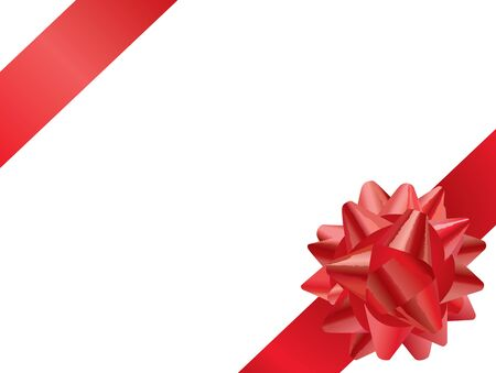 Red Gift Bow (editable vector or XXL jpeg image)
