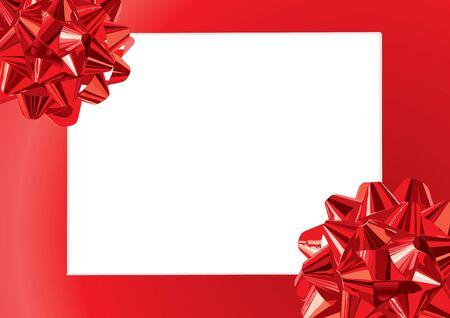 frame vector: Gift Bows Frame (vector or XXL jpeg image) Illustration
