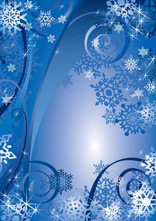 Snowflakes Design (vector or XXL jpeg image) Illustration