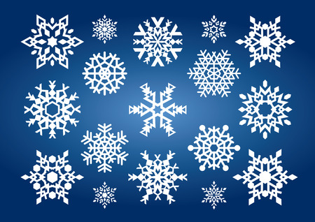 Snowflakes (vector or XXL jpeg image) Vector