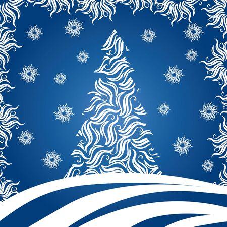 Christmas Tree (vector or XXL jpeg image) Illustration