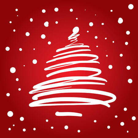 Christmas Tree (vector or XXL jpeg image) Illustration