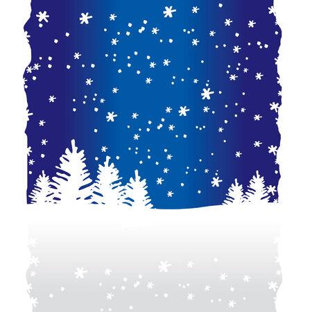 Winter Trees Background (vector or XXL jpeg image) Illustration