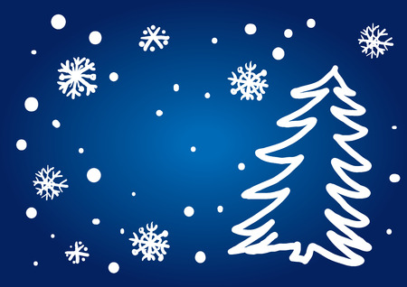 freehand tradition: Christmas Tree Freehand Drawing (vector or XXL jpeg image)
