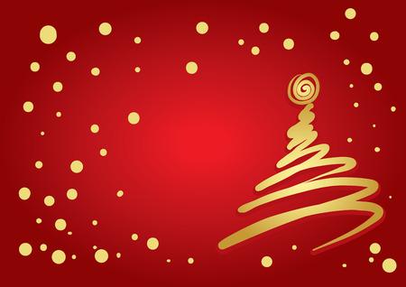freehand tradition: Christmas Tree Flourish (vector or XXL jpeg image)