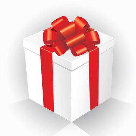 closed ribbon: Gift Box  Illustration