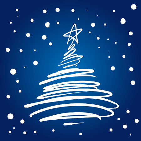 Christmas Tree Flourish (vector or XXL jpeg image)
