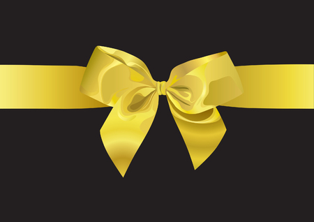 Golden Ribbon (vector or XXL jpeg image) Illustration