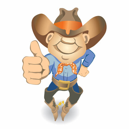 jpeg: Thumbs Up Cowboy (vector or XXL jpeg image)