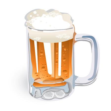 brew beer: Taza de cerveza (vector o imagen del JPEG de XXL)