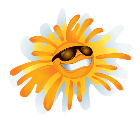 Funky Sun (vector or XXL jpeg image) Illustration