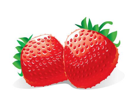 juicy: Strawberries (vector or XXL jpeg image)