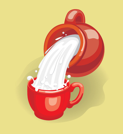 jugs: Milk (vector or XXL jpeg image) Illustration