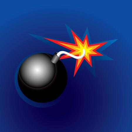 Exploding Bomb (illustration) Vector