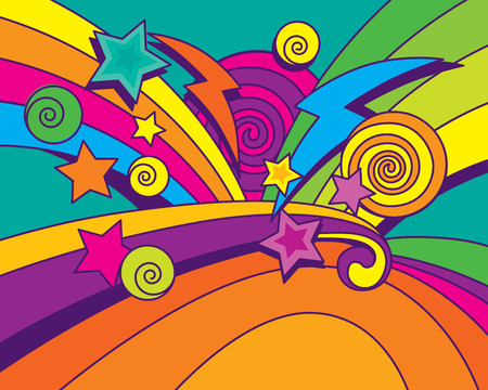 rainbow color star: Big Bang Background! Illustration
