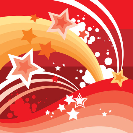 Abstract Stars Background Illustration