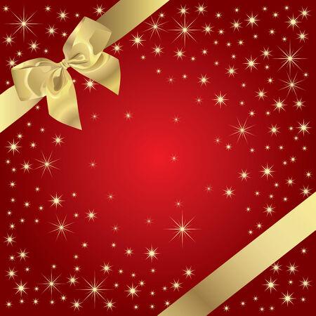 Magic Present (Golden Bow On Magic Background) Illustration