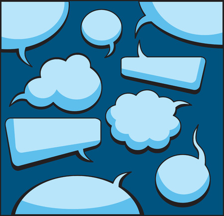 message vector: Expresi�n y de pensamiento Bubbles