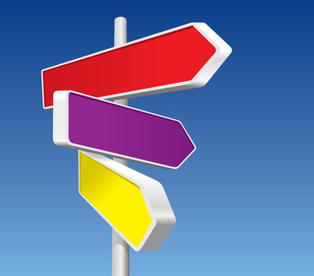 Directional Signs (vector + XXL jpeg image) Vector