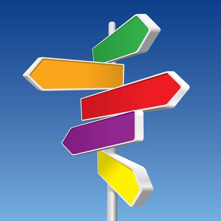 Directional Signs (vector-of XXL jpeg-afbeelding) Vector Illustratie