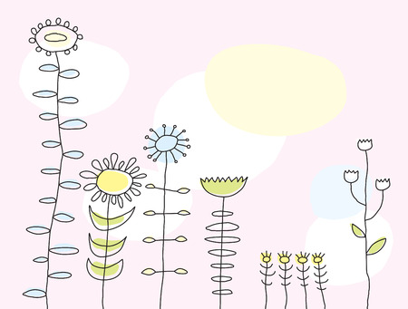 Flowers Greeting Card (vector or XXL jpeg image) Illustration