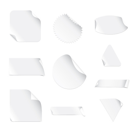 White Stickers Stock Vector - 5156539