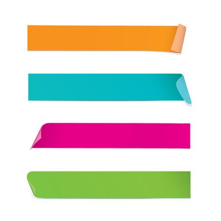 Kleurrijke Stickers Vector Illustratie