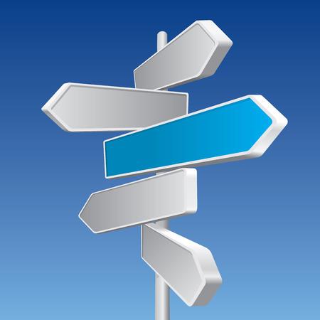 directions: Directional tekenen Stock Illustratie
