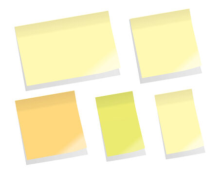 Sticky Memo Notes Stock Vector - 5208910
