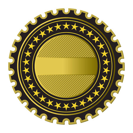 Golden Label (see more in my gallery) Vector