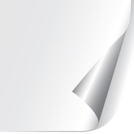 curled paper: Curled Paper Corner Illustration