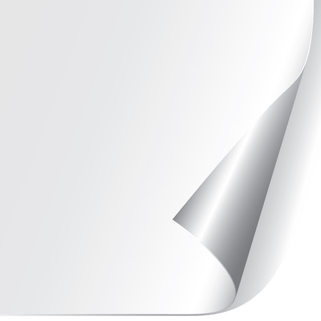 turn the corner: Esquina de papel rizado