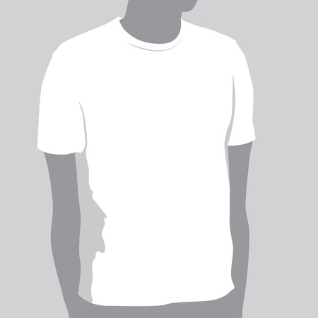 T-shirt Template With Space For Your Design Stock Vector - 5677687
