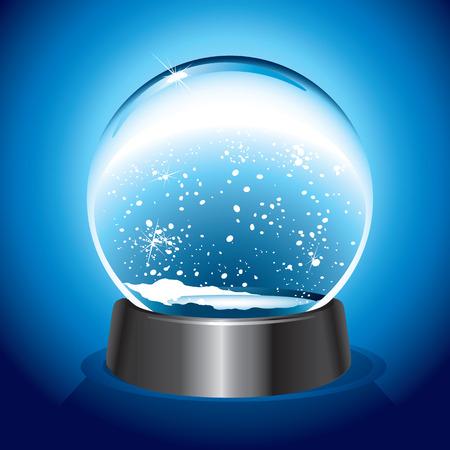 Magic Snow Dome Vector