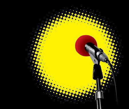 Microphone In Spotlight