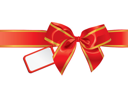 Gift Bow With Empty Card For Your Text Illustration