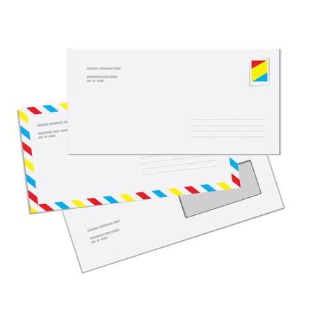 sobres para carta: Sobres de correo  Vectores