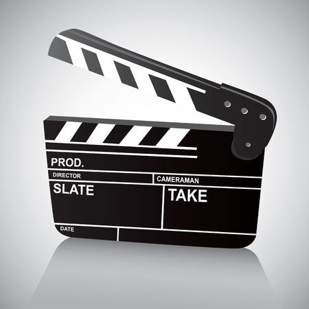 filmmaker: Film Clapboard Illustration