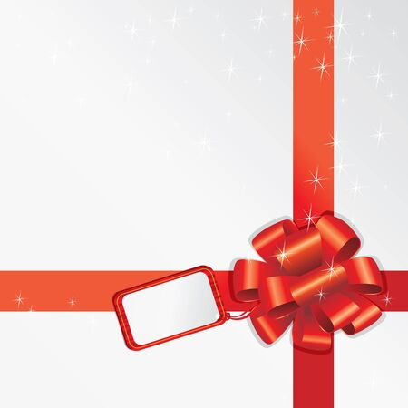 Gift Bow With Empty Card For Your Text Vector