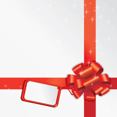 Gift Bow With Empty Card For Your Text Stock Vector - 8121368