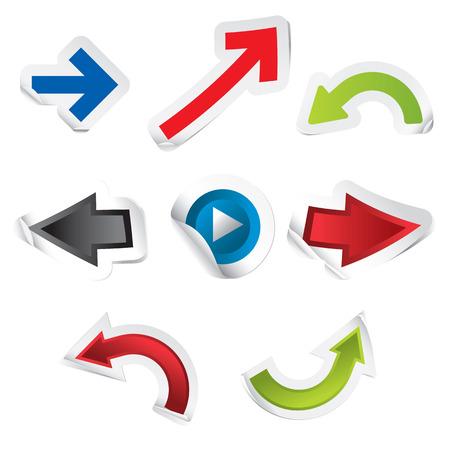 Arrow Stickers Stock Vector - 8196022