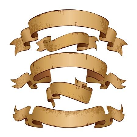 curled edges: Banner Grunge con spazio per testo