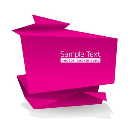 テキスト用のスペースと抽象的な折り紙形状
