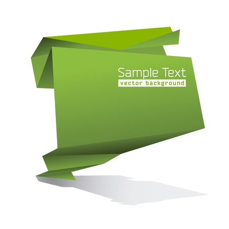 space for text: Resumen Forma de Origami con espacio para texto