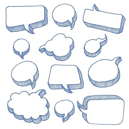 bande dessin�e bulle: Parole et la pens�e Bubbles Illustration